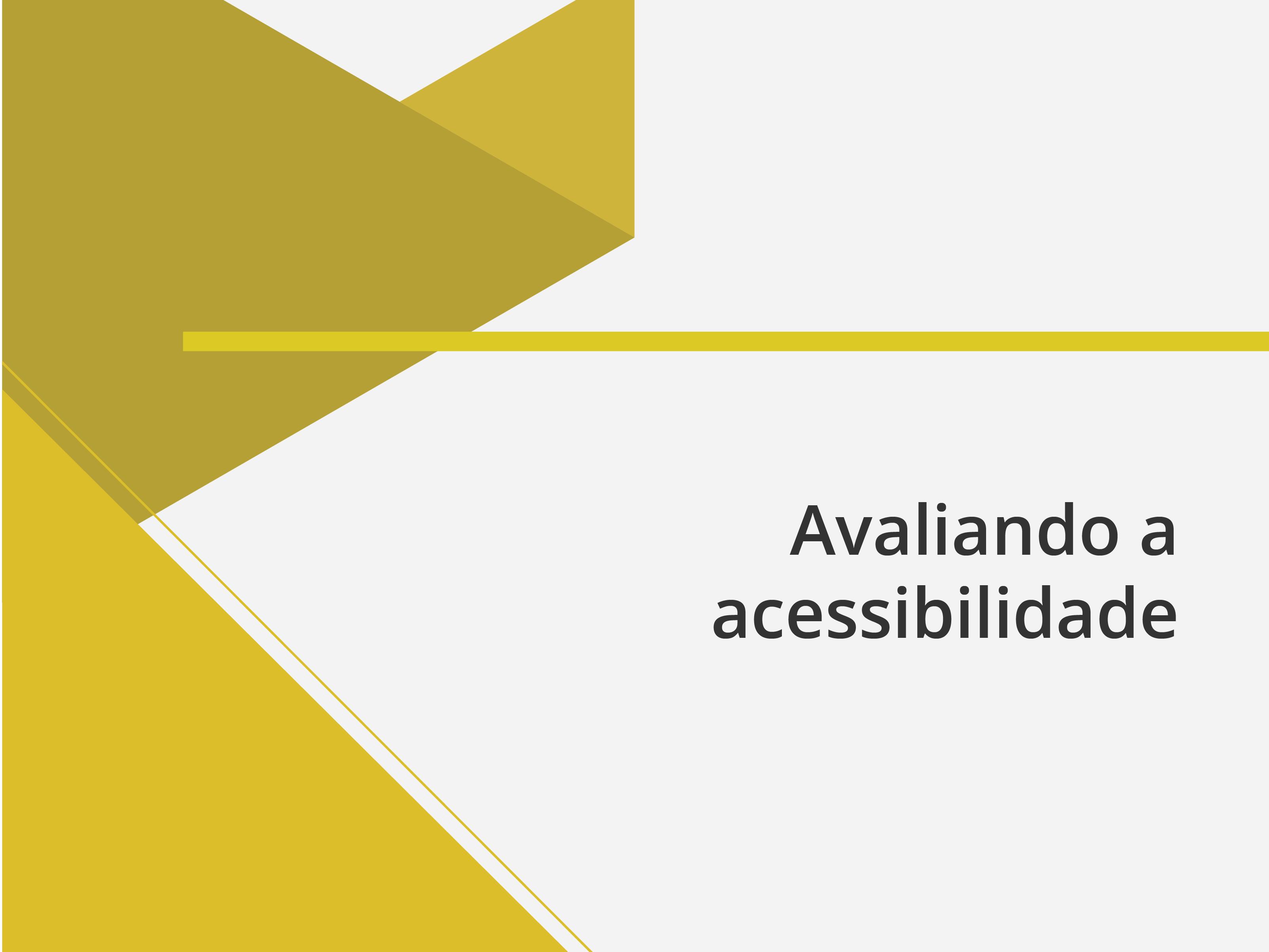 Banner avaliando a acessibilidade
