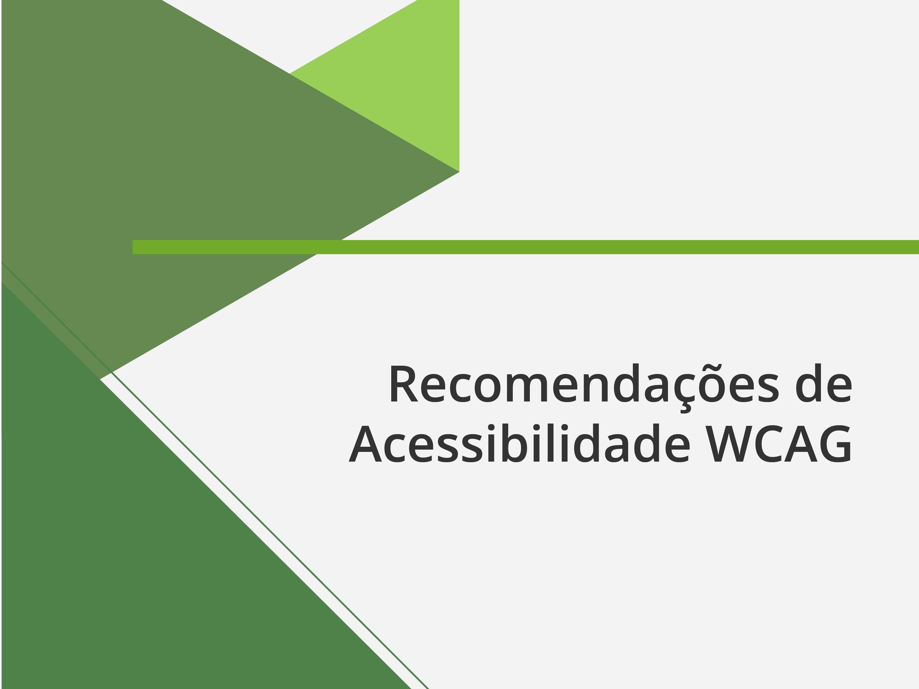 Banner recomendações de acessibilidade WCAG