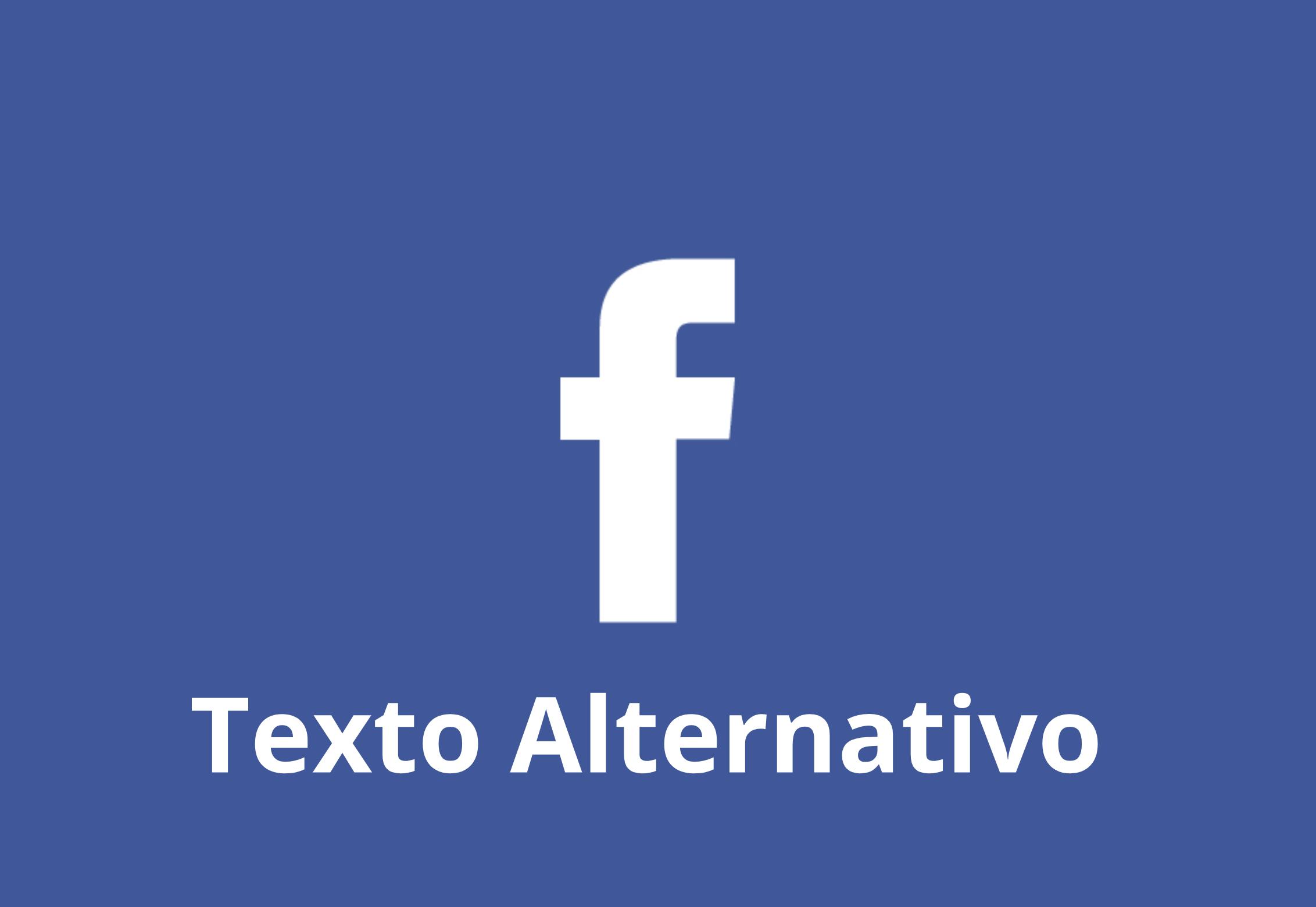 Facebook texto alternativo