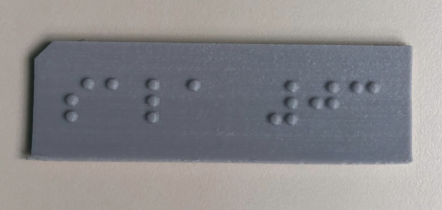 Placa Braille